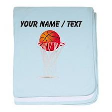 Custom Basketball Hoop baby blanket