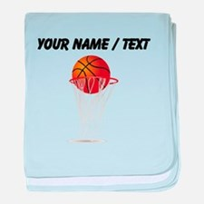 Custom Basketball Hoop baby blanket