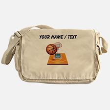 Custom Basketball Icon Messenger Bag