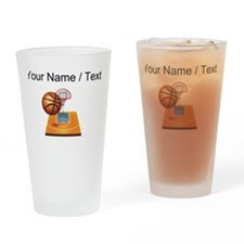 Custom Basketball Icon Drinking Glass