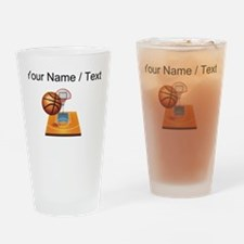 Custom Basketball Icon Drinking Glass