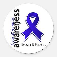 Awareness 5 Dysautonomia Round Car Magnet