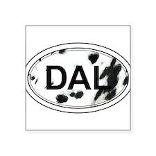 Dalmatian Oval Sticker (Black & White) Sticker