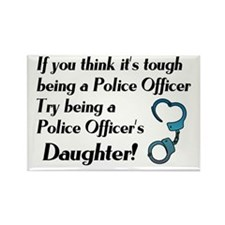 Tough Police Daughter Rectangle Magnet