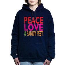 Peace, Love Sandy Feet Hooded Sweatshirt