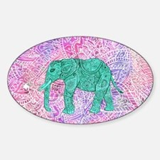 Teal Tribal Paisley Elephant Purple Decal