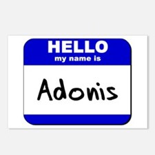 hello my name is adonis  Postcards (Package of 8)