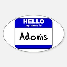 hello my name is adonis Oval Decal
