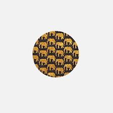 Whimsical Gold Glitter Elephants Patte Mini Button