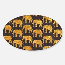Whimsical Gold Glitter Elephants Pa Decal