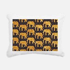 Whimsical Gold Glitter E Rectangular Canvas Pillow
