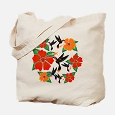 Hummingbird and Hibiscus Tote Bag