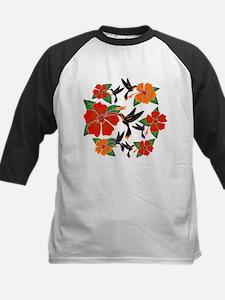Hummingbird and Hibiscus Baseball Jersey