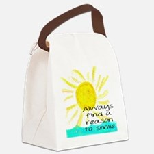 Always find a reason to smile Canvas Lunch Bag