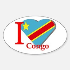 I love Congo Oval Decal