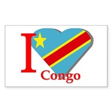 I love Congo Rectangle Decal