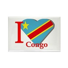I love Congo Rectangle Magnet