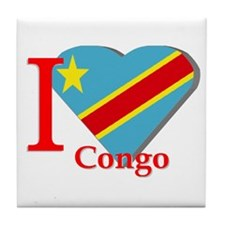 I love Congo Tile Coaster