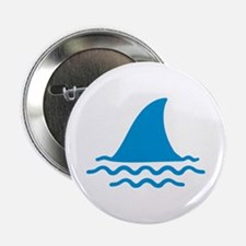 "Blue shark fin 2.25"" Button"