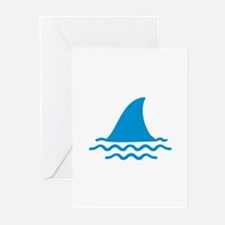 Blue shark fin Greeting Cards (Pk of 10)