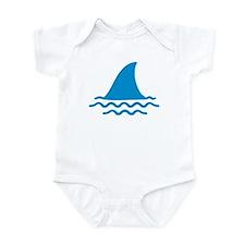 Blue shark fin Infant Bodysuit