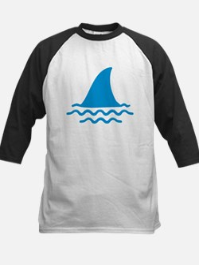 Blue shark fin Kids Baseball Jersey
