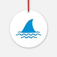 Blue shark fin Ornament (Round)