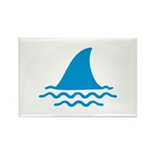 Blue shark fin Rectangle Magnet (100 pack)