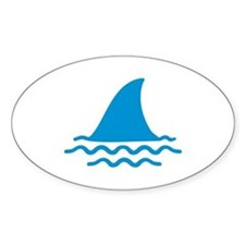 Blue shark fin Decal