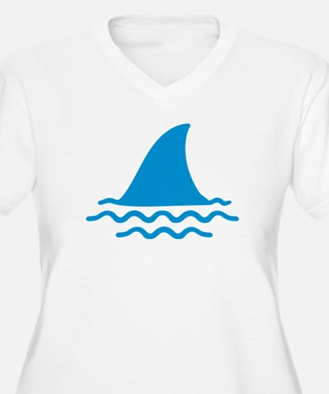 Blue shark fin T-Shirt