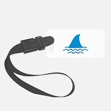 Blue shark fin Luggage Tag