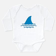 Blue shark fin Long Sleeve Infant Bodysuit