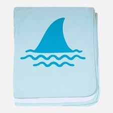 Blue shark fin baby blanket
