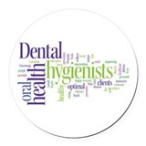 Dental Round Car Magnets