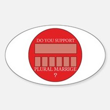 Plural marriage Decal
