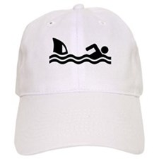 Shark attack swimmer Baseball Cap