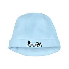Shark attack swimmer baby hat