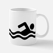 Shark attack swimmer Mug