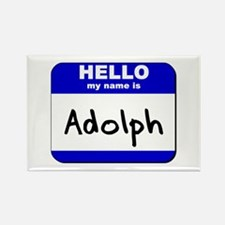 hello my name is adolph Rectangle Magnet