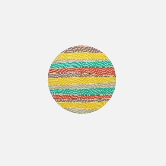 Stripe Dash Warm Mini Button