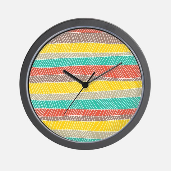 Stripe Dash Warm Wall Clock