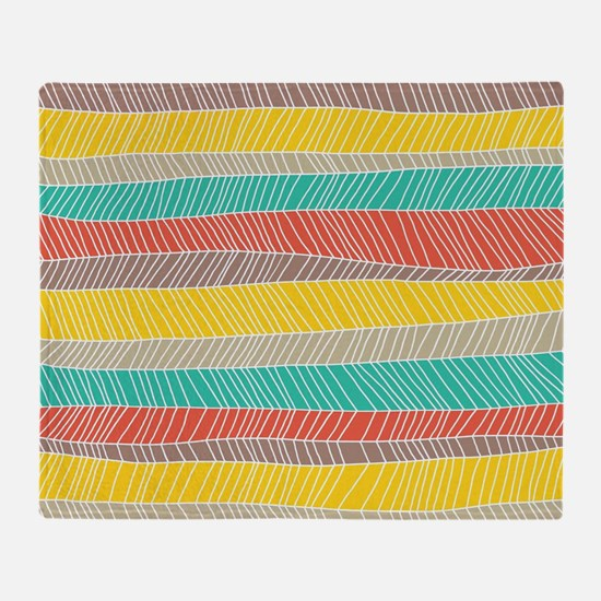 Stripe Dash Warm Throw Blanket