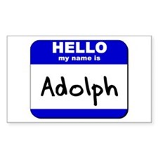 hello my name is adolph Rectangle Decal