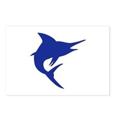 Blue Marlin Fish Postcards (Package of 8)