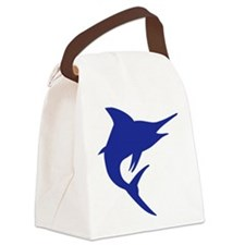 Blue Marlin Fish Canvas Lunch Bag