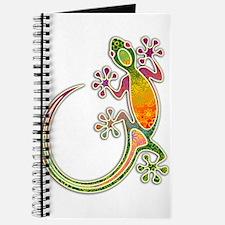 Gecko Floral Tribal Art Journal