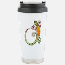 Gecko Floral Tribal Art Travel Mug