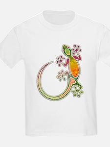 Gecko Floral Tribal Art T-Shirt