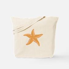 Orange Starfish Tote Bag