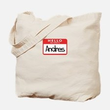 Hello Andres Tote Bag